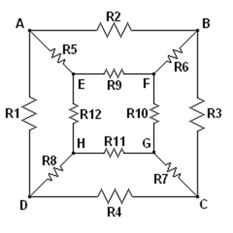 resistors on a cube cubical resistor network or resistors are futile