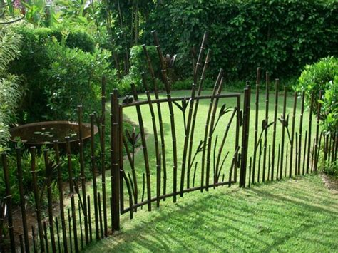 backyard metal fence metal garden fences bring more style to the outdoor area