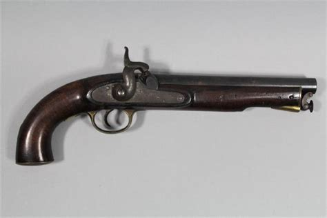 Bor Pistol antique and desirable percussion pistol of about 12 bor