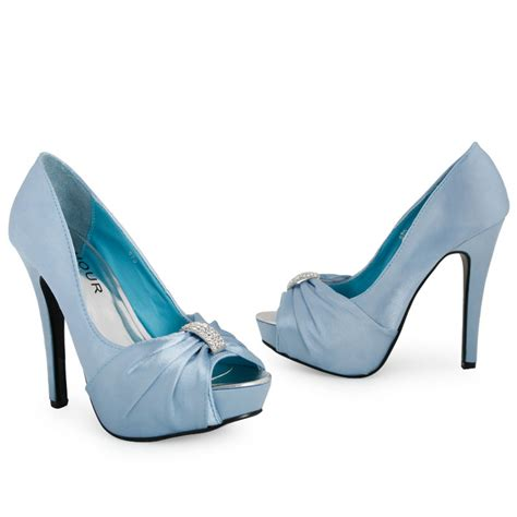 light blue evening shoes ladies light blue bridal platform heeled womens diamante