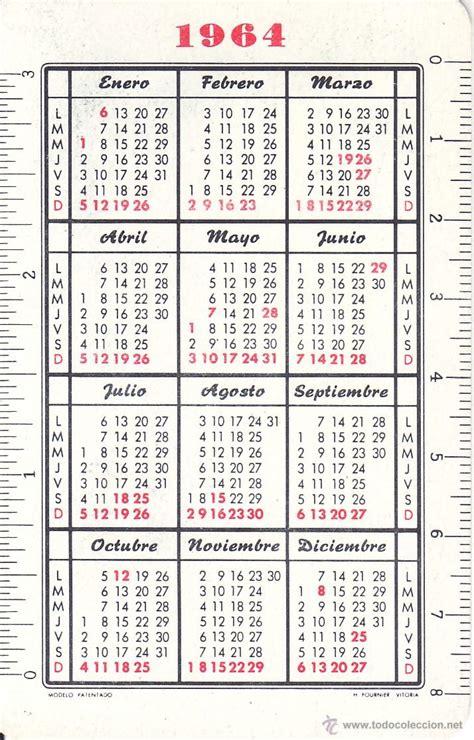 Calendario De 1961 Calendario De Fournier Cristo 1964 Comprar