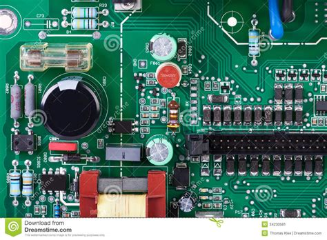 electric board resistor circuit board with many electronic components stock image image 34230581