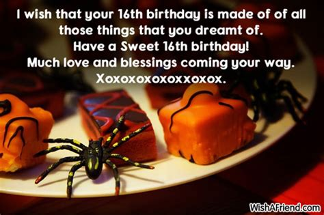 10 Birthday Greetings For Your Friends Sweet Sixteen by 16th Birthday Wishes