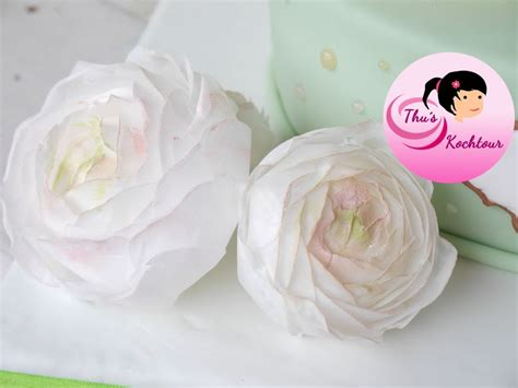 rice paper flower tutorial eng sub how to make buttercup flowers with wafer paper