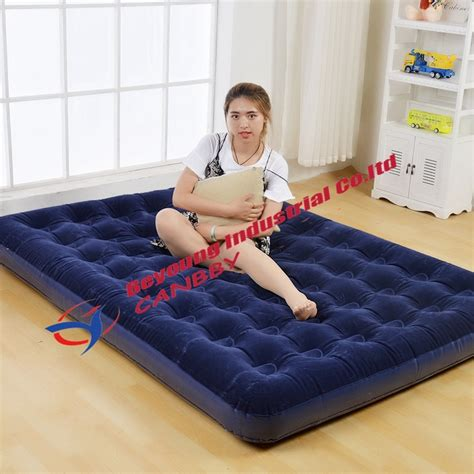 bestway comfort quest size flocked air bed up airbed guest travel