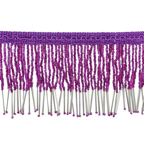 beaded fringe trim l shade sparkle l shade night light lshade beaded purple