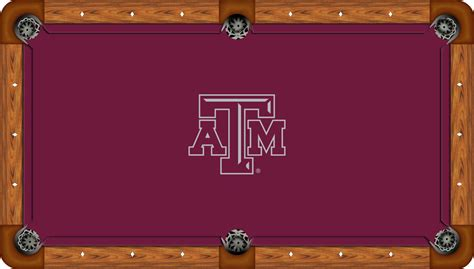 texas a m desk accessories texas a m aggies 7 pool felt pool cloth