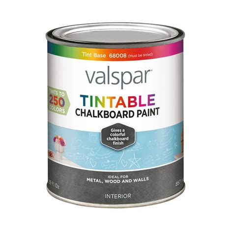shop valspar valspar interior flat chalkboard tintable white base paint actual net