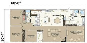 4 Bedroom Double Wide Floor Plans by Champion Homes Double Wides