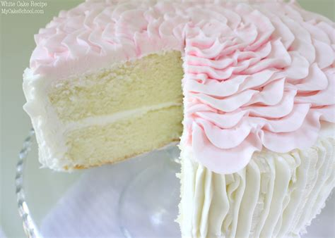 White Cake from Scratch! Recipe by MyCakeSchool.com   My Cake School