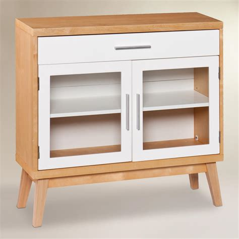 glass door abie storage cabinet world market