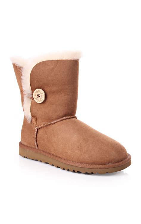ugg womens ugg australia bailey button ugg boot chestnut