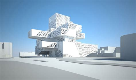 cubist architecture new israeli theater looks like a cubist boom co