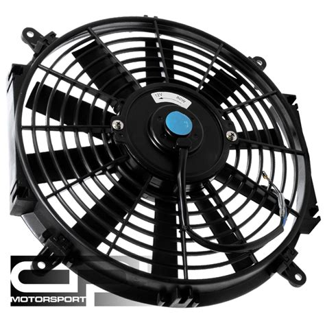 12 volt cooling fan 7 quot 12 volt black slim electric cooling radiator fan ebay