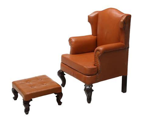 matching ottoman 2 leather wingback chair matching ottoman day 2