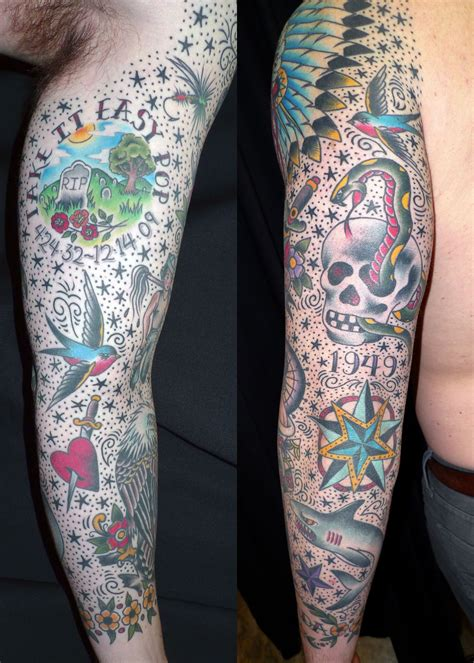 old skool tattoo skool sleeve tattoos