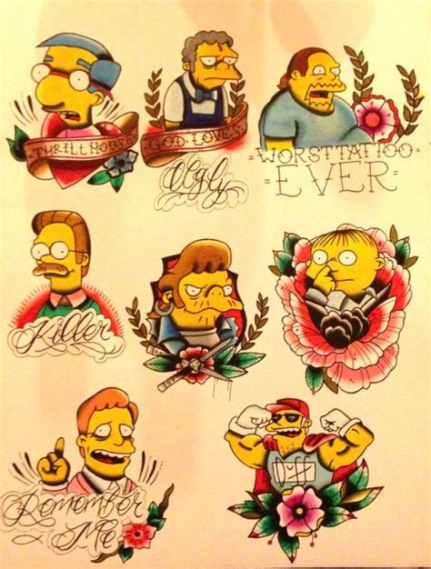 simpsons tattoo tattoos of the day the simpsons tattoos tattoos beautiful