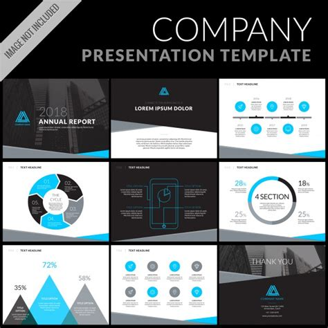 Business Presentation Template Set Vector Free Download Presenting A Business Template