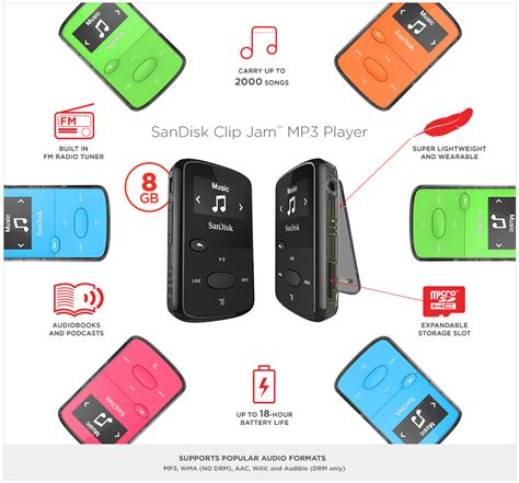 Sandisk Clip Jam sandisk sansa clip jam 8gb mp3 player blue