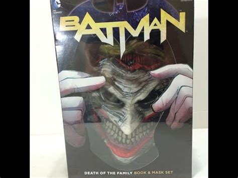 Batman The New 52 Death In The Family Book And Joker Mask