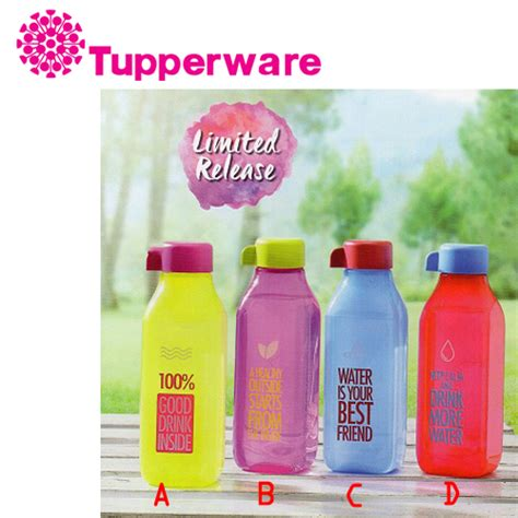 Botol Minum Tupperware Eco 500ml harga tupperware eco bottle square 500ml botol minum