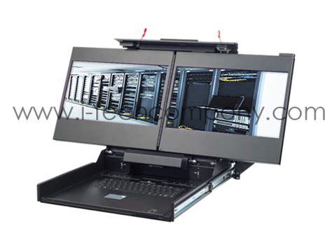 Rack Mount Computer Monitor by 19 Rugged 2u Rackmount Drawer With Dual Screen Lcd Monitor