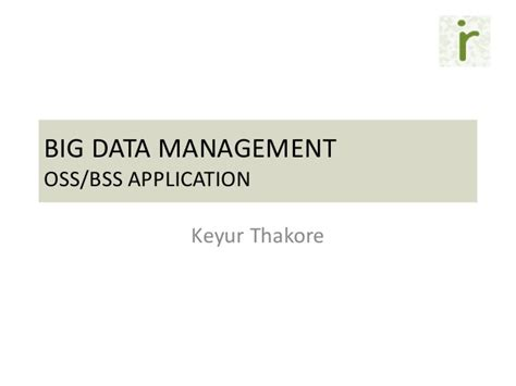 Kumar Applied Big Data Analytics In Operations Management 2017 big data application oss bss