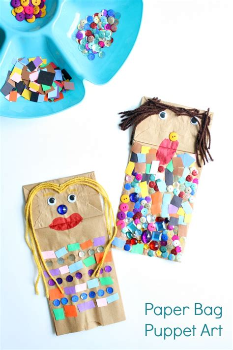 Paper Bag Arts And Crafts For - paper bag puppet invitation fantastic learning