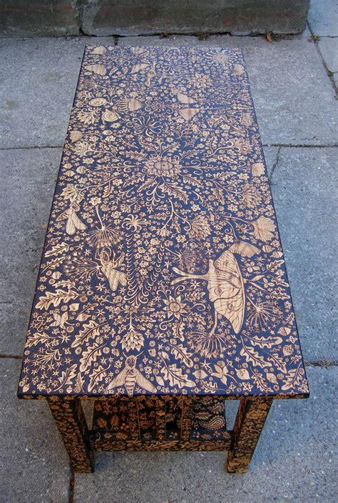 Burnt Wood Furniture by Wood Burned Coffee Table By Cecilia Galluccio Coffee
