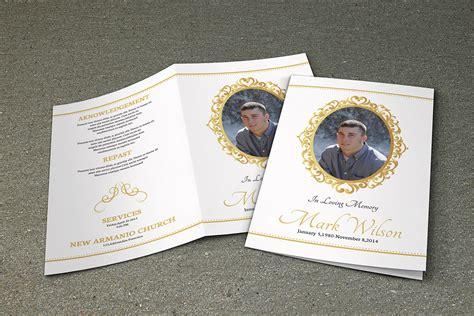 Printable Funeral Program Template Memorial Program Memorial Paper Template