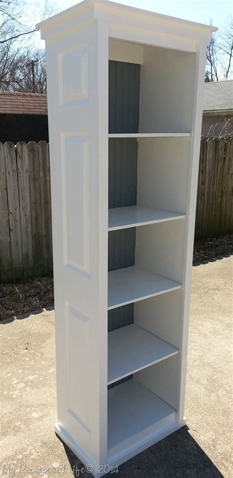 bi fold door bookshelf my repurposed life