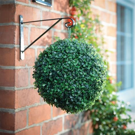 Hanging Solar Topiary Ball Poundstretcher Poundstretcher Artificial Topiary Trees With Solar Lights