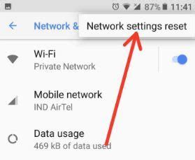 reset android mobile data usage how to network settings reset on android oreo 8 0