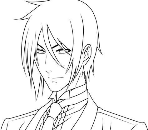 theme line black butler sebastian from black butler lineart by kimiichii on