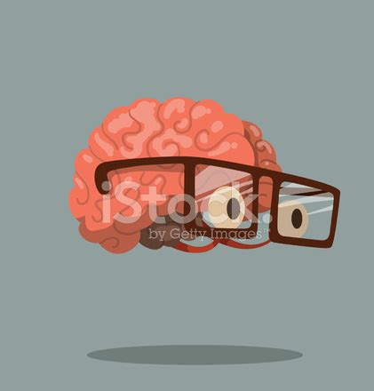 cartoon brain with glasses stock vector freeimages.com