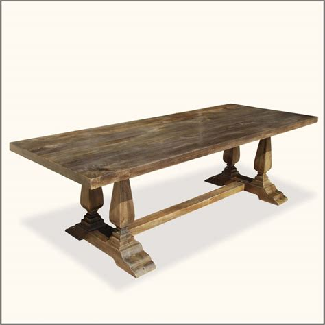 Diy Rustic Wood Dining Table Custom Diy Farmhouse Distressed Dining Table With Pedestal Made From Reclaimed Wood