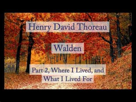 walden two audiobook henry david thoreau walden where i lived and what i