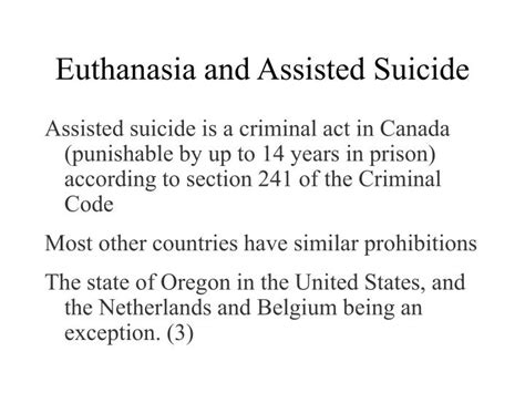 section 241 criminal code ppt euthanasia powerpoint presentation id 6734129
