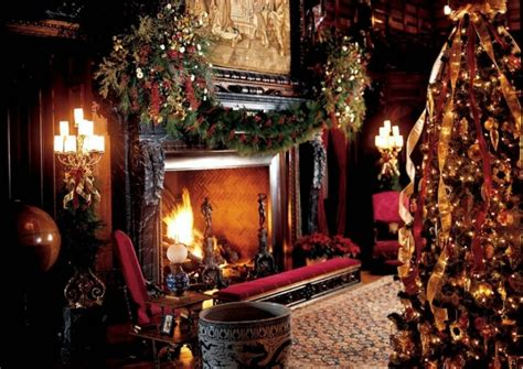 elegant fireplace christmas decorating ideas biltmore decorating ideas living room library fireplace tree the
