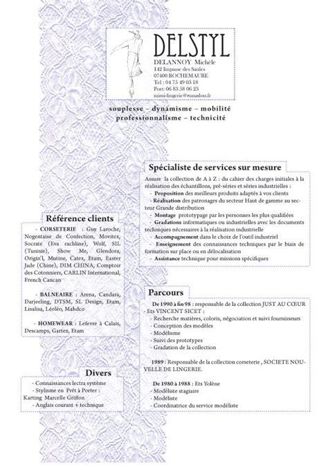 Nouveau Modèle De Cv by Exemple Cv Styliste Modeliste Cv Anonyme