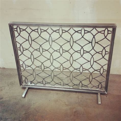 Monogrammed Fireplace Screen by Custom Metal Fireplace Screen By Ironcraft