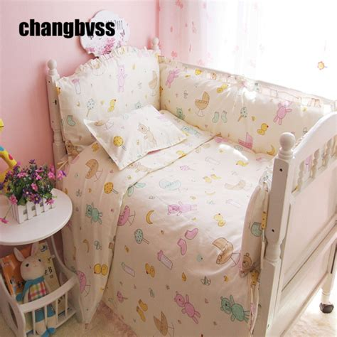 colorful little bear baby crib bedding set sheet bumper