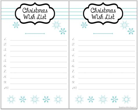 wish list template printable 7 best images of printable wish list template