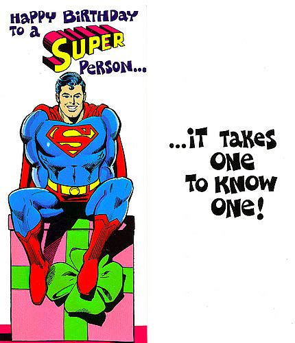 printable birthday cards superhero superman friends greet fans in hilarious cards from 1978
