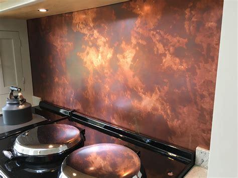 Distressed Copper Backsplash Metal Sheets Limited Copper Sheet Metal Backsplash