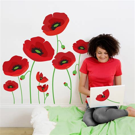 poppy wall stickers can make their without leaving a with new flair4all wall decals