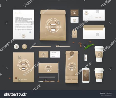 coffee shop branding design corporate identity template business set coffee stock