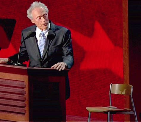 Clint Eastwood Talking To Chair by Rotten