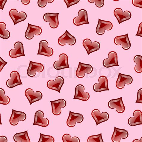 heart pattern repeat valentine s heart repeating seamless pattern stock