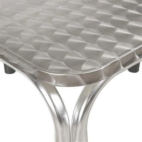 Charmant Chaise Pliante Plastique #9: Table-de-terrasse-carree-en-aluminium.jpg